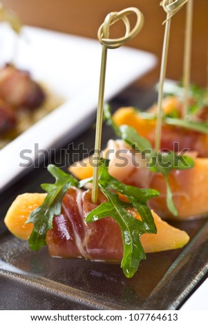 delicious tapas / appetizer food