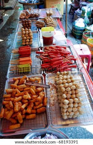 Delicious Thai street food in Asia