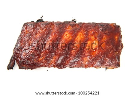 Delicious toast piece of pork ribs .