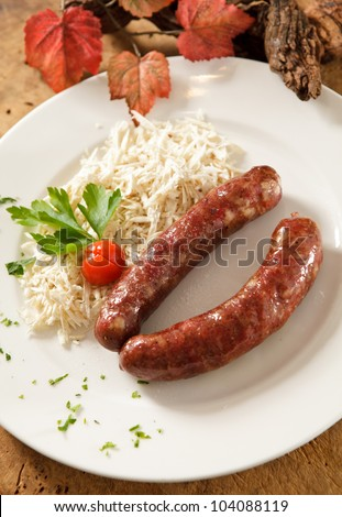 Delicious traditional sausage from Prekmurje, Slovenia