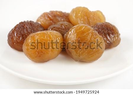 Delicious Turkish candied chestnut  ( Kestane Sekeri ) or marron glace.  Photo stock ©