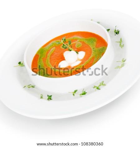 delicious vegetable soup puree