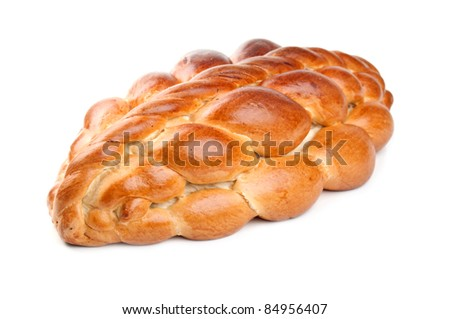 delicious wedding loaf isolated on a white background