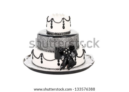 delicious white and black cake