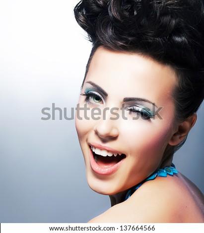 Flirtatious Smile Stock Photo 1