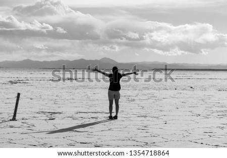 Delight of Endless Salt Flats in Argentina #1354718864