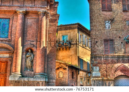 Delightful old Italian architecture found in Florence, Tuscany Italy