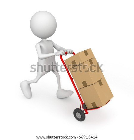 Delivering. 3d image isolated on white background.