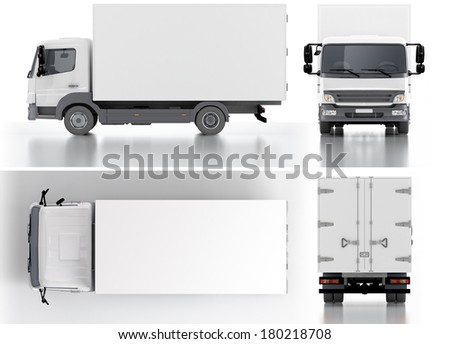 Delivery / Cargo Truck 3d render