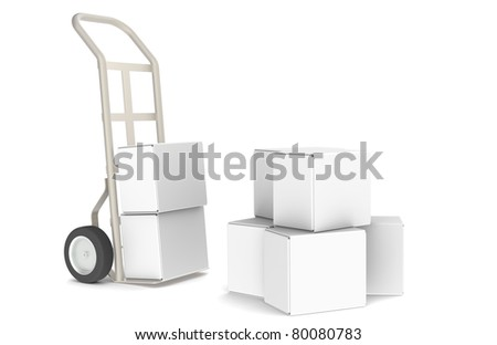 Delivery. Hand Truck with boxes. Part of Warehouse and Logistics Series