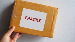 delivery, mail service,  fragile, supplies and shipment concept.