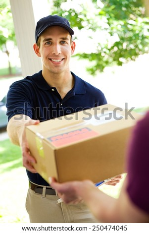 Delivery: Picking Up Package from Home