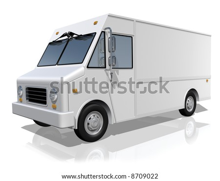 Delivery truck with blank surface