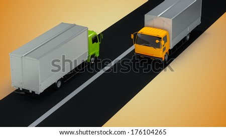 Delivery trucks #176104265