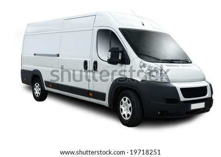 Delivery Van with Clipping Path