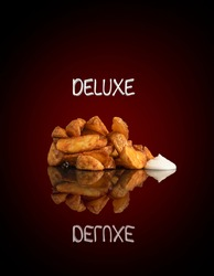 deluxe fries with mayo sauce