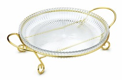 deluxe glass dish and hanger