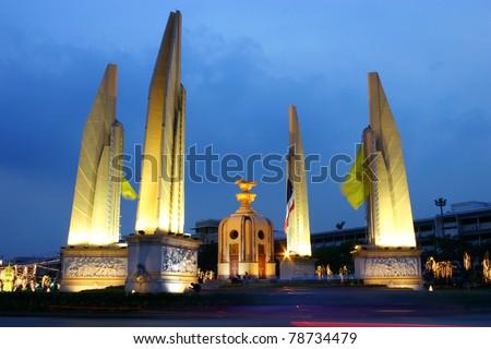 Democracy monument at Bangkok, Thailand