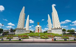 Democracy Monument with blue sky