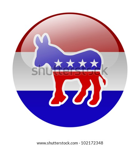 Democratic party button