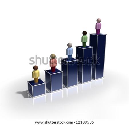 Demographic Chart - stock photo
