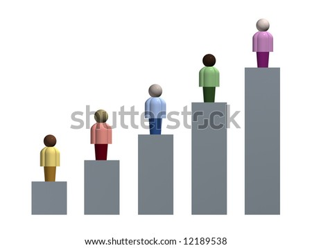 Demographic Chart - stock photo