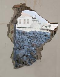 demolished concrete