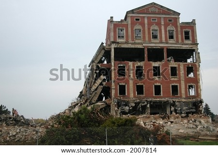Demolition of old, allegedly haunted, hospital