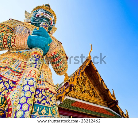 stock photo : Demon Guardian Wat Phra Kaew Grand Palace Bangkok