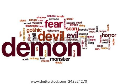 The Word Demon Clip Art