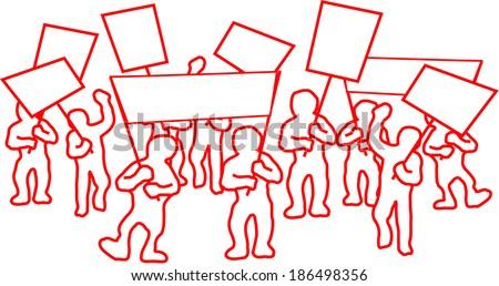 demonstrating comic people