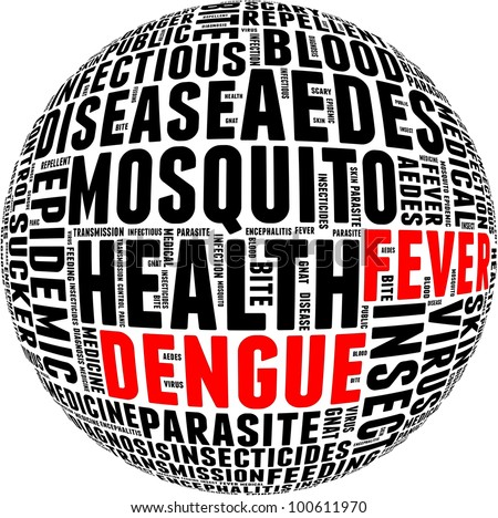 Dengue fever info-text graphics and arrangement with circle shape concept
