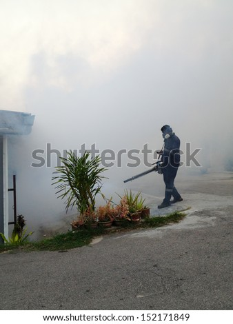 dengue fogging with poisonous smoke