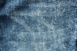 Denim. Blue jeans background. Denim jeans texture, analysis of the wardrobe during the period of self-isolation at home