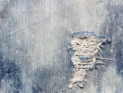 Denim blue jeans texture. Abstract background.