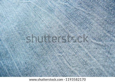 denim close up jeans blue canvas for decoration design textiles natural material cotton material for clothes texture of fabric background #1193582170