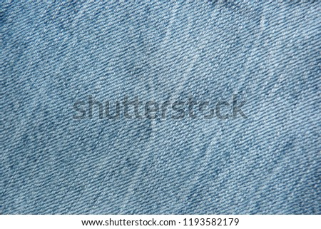 denim close up jeans blue canvas for decoration design textiles natural material cotton material for clothes texture of fabric background #1193582179