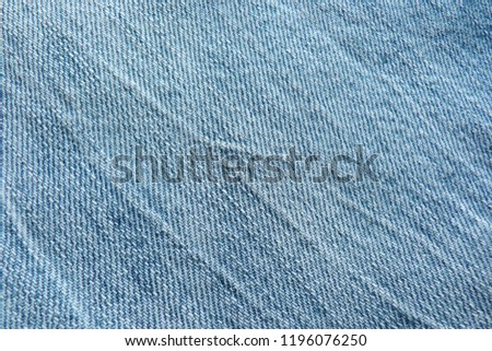 denim close up jeans blue canvas for decoration design textiles natural material cotton material for clothes texture of fabric background #1196076250