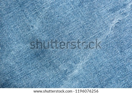 denim close up jeans blue canvas for decoration design textiles natural material cotton material for clothes texture of fabric background #1196076256