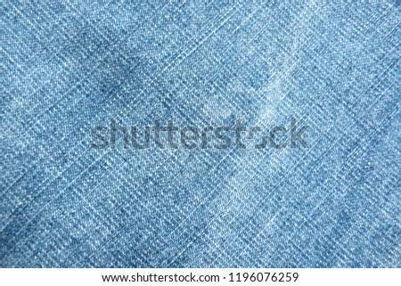 denim close up jeans blue canvas for decoration design textiles natural material cotton material for clothes texture of fabric background #1196076259