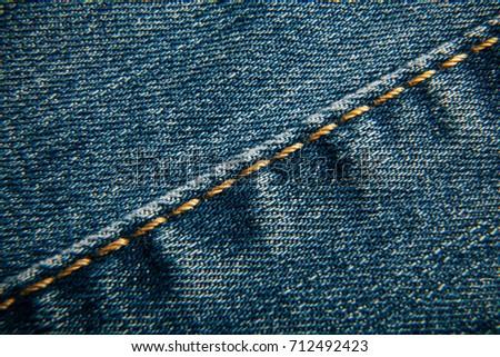 Denim. Close-up, macro texture. #712492423