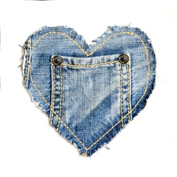 denim heart