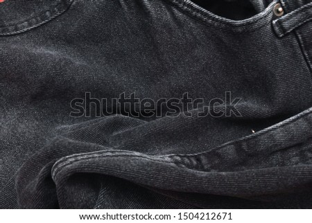 Denim. Jeans background. Denim jeans texture or denim jeans background.Grey denim pattern.