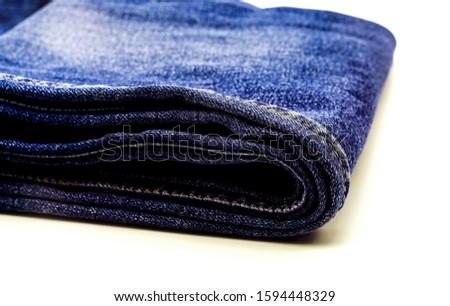 Denim jeans texture. Denim background texture for design. Detail of Jeans denim texture.
