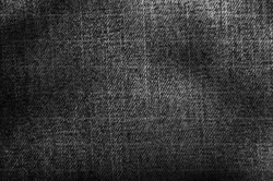 Denim material grungy detail fabric texture grey background surface fashion sturdy rough glamour