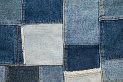 denim patchwork textile, pattern vintage