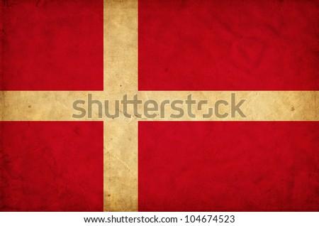 Denmark grunge flag