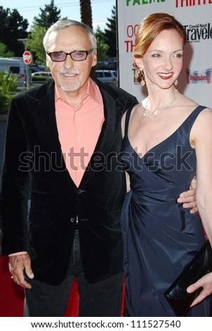"Dennis Hopper and Victoria Duffy at the CineVegas Opening Night Premiere Of ""Ocean's Thirteen"". Palms Casino Resort, Las Vegas, NV. 06-06-07 - stock photo"