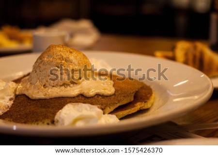 Denny's delicious tres leches pancakes  Zdjęcia stock ©
