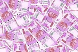 Denomination 2000 rupees Indian notes pattern INR.